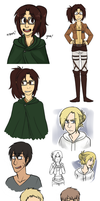 Snk Art Dump 1 by oofuchibioo