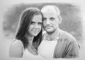 V and J - Pencil portrait by Per-Svanstrom
