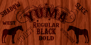New Font YUMA by yourenemy