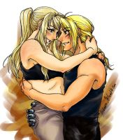Edward and Winry by Hikaru9