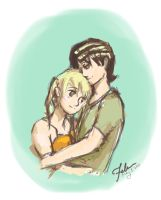 Just a little hug, KiMa by felmadela