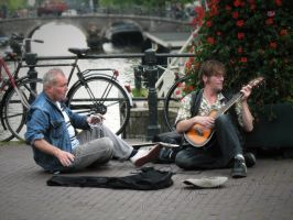 Amsterdam street players by Andenne