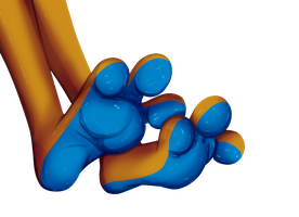 Buizel paws by Fluffy-Mage
