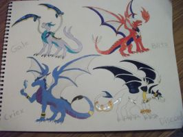 Group Doodle by CriexTheDragon