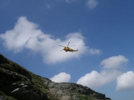 Helicopter over Blencathra by Super-Wooper