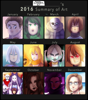 Summary of Art - 2016 by Soulsaber67