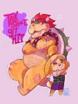 MK8 Bowser and Isabelle by FeatherNotes