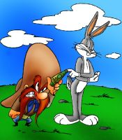 looney tunes bugs and yosemite by kst2500