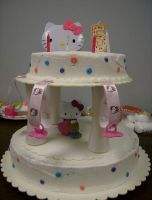 Hello Kitty Cake by Yumpop82
