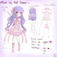 OC: Mimi ~ Ref Sheet by MiMikuChair