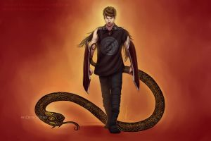 Hogni and the Serpent by CelticBotan