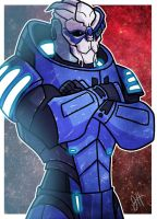Commish - Garrus Vakarian by JoeHoganArt