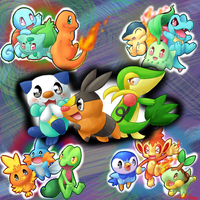 starter pokemon by FENNEKlNS