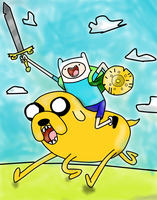 PAINTING TIME: FINN AND JAKE MATHEMATICAL BATTLE by Cokedark11