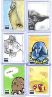 Star Wars G 6 Sketch cards by kettleart