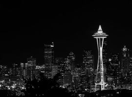 Seattle at night 3 by sgwizdak