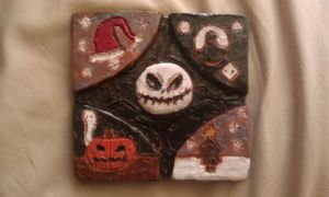 School Projects: Nightmare Before Christmas Tile by HailfirePhantom