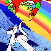 Lugia and Ho-oh by dra-cat