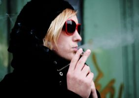 a girl with a smoke by meizy