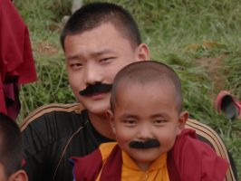 Monks in Mustaches 2 by ReivunChi