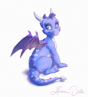 Blue Hatchling by DaffoDille