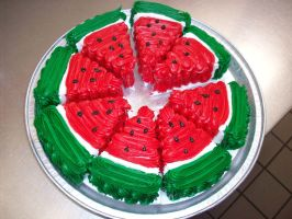 Watermelon Cake by KattsalittleCrazy