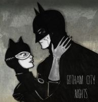 Catwoman and Batman by MollyMartin