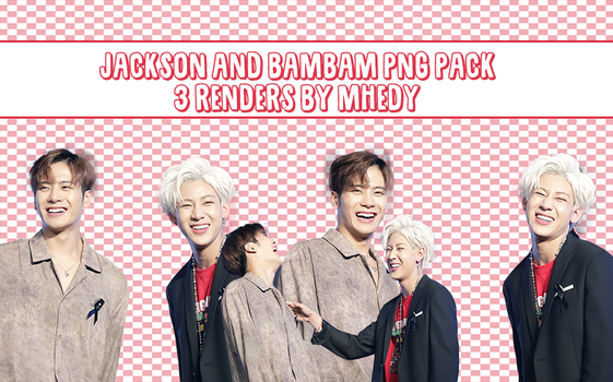 [render #40] GOT7 Jackson and Bambam PNG Pack by MhedyyChan