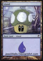 Altered Magic Card 1up by JessWells
