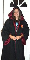 Gryffindor Robe-Hood up by Groovygirlsuzy17