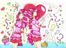 Pinkie Pie cosplayers :'D by ChidoriOnCrayon
