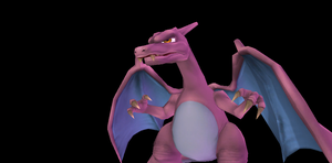 MMD Newcomer Shiny Charizard +DL by Valforwing