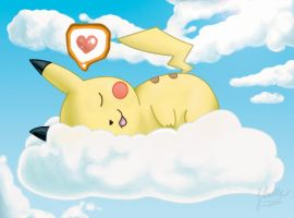Sleepy pika by turusai