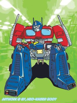 Optimus Prime, Studying by Neo-Kaiser