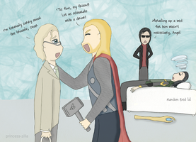 Thor meets Good Omens by JustSomeMaddy