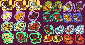 Pup Charms by whinges