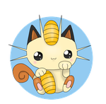Makeki Meowth by Mizdreavus