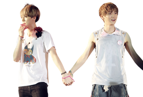 png sehun and luhan cat by Lime by desanhdep1
