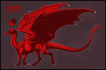 Seryth: Red Pern Dragon by JadeRavenwing