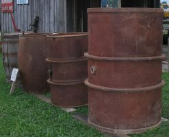 Rusty Barrels at the Fair by WDWParksGal-Stock