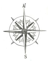 Compass rose tattoo by trappedinwires
