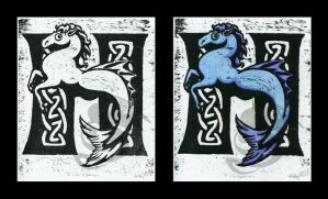 H is for Hippocampus by Oddstuffs