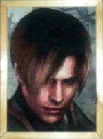 Leon Kennedy cross stitch by Tilana