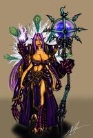 Khestra: Daemon Princess of Tzeentch by Amalgam-Images