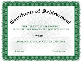 Certificate of Achievement by 123freevectors
