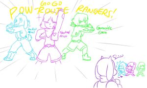 Undertale: GOGO Pow-Route Rangers!! by perfectshadow06