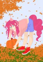 Pinkie in the Fall Alternate Background Colors by ComicSneakers