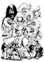 Jungle Girl Cover Ink by JorgeCorrea