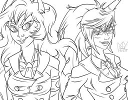 Scanty and Kneesocks (Uniforms) by TheBitterSweetPrince