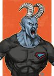 Daily Sketches Blue Devil by fedde